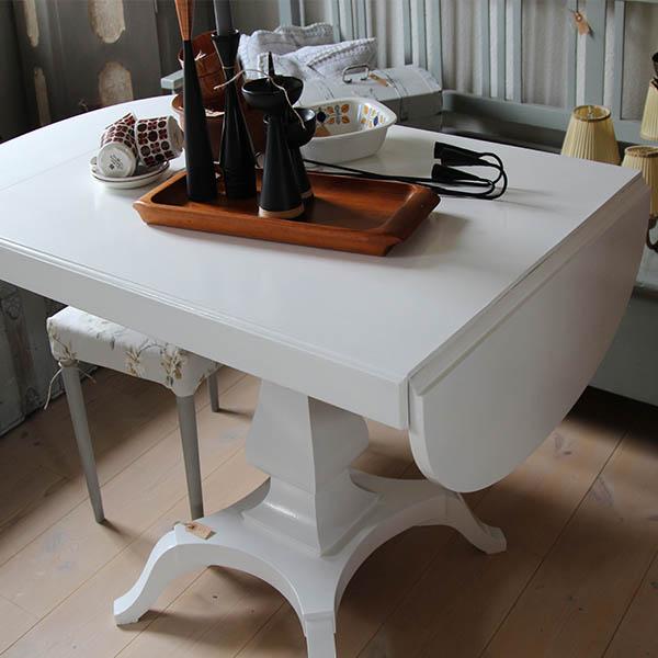 Spisebord ovalt   foldbar ender   pipi antik