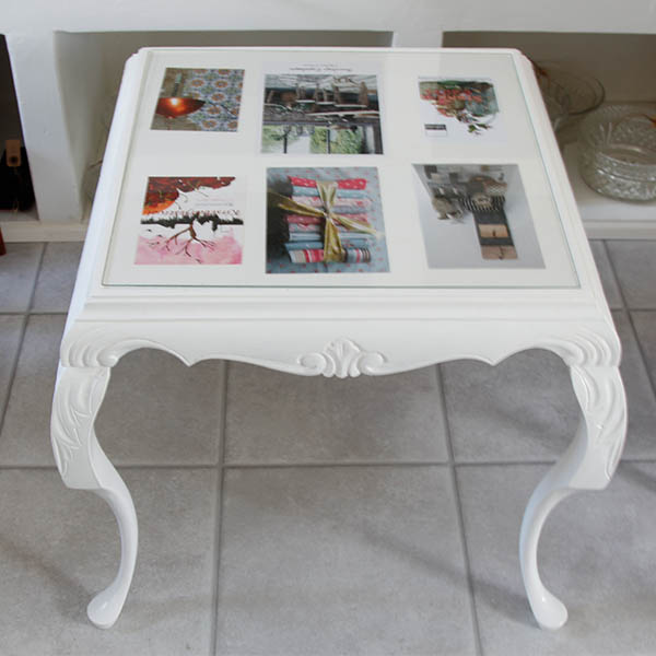 Sofa bord med glasplade - Pipi Antik