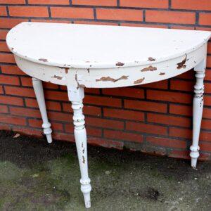 Halvtbord i hvidt - med noget patina 94x48x73 (11b)