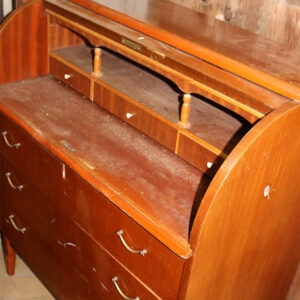 5 Kommode - retro stil - med skrivepult og kontorskuffer 84 x 47 x 99 cm