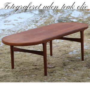 Sofa teak bord runde buer 60x158x51 cm