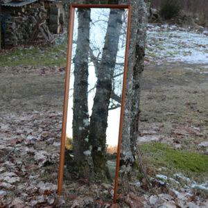 5 Teak spejl 38 x 123,5 x 3 cm