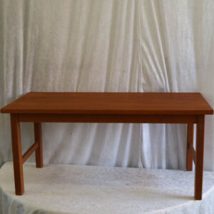 Lav teak sofabord 84x40,5x38 cm