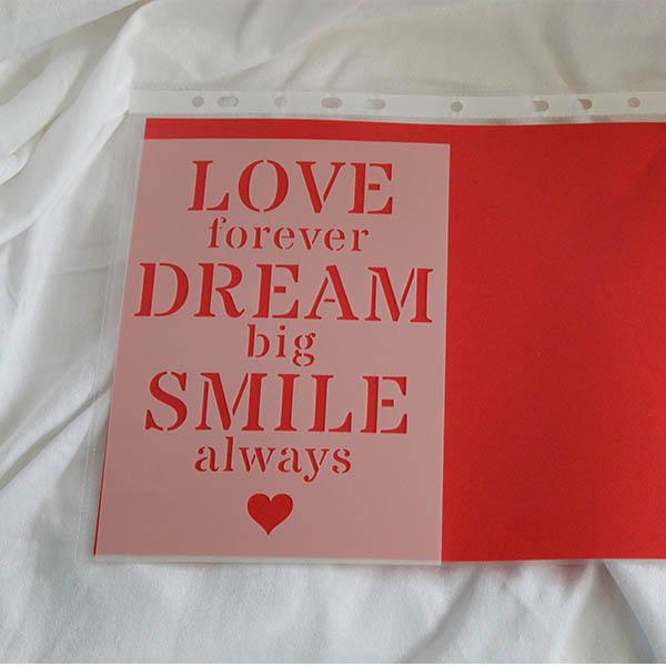 A5 Love Dream Big Smile