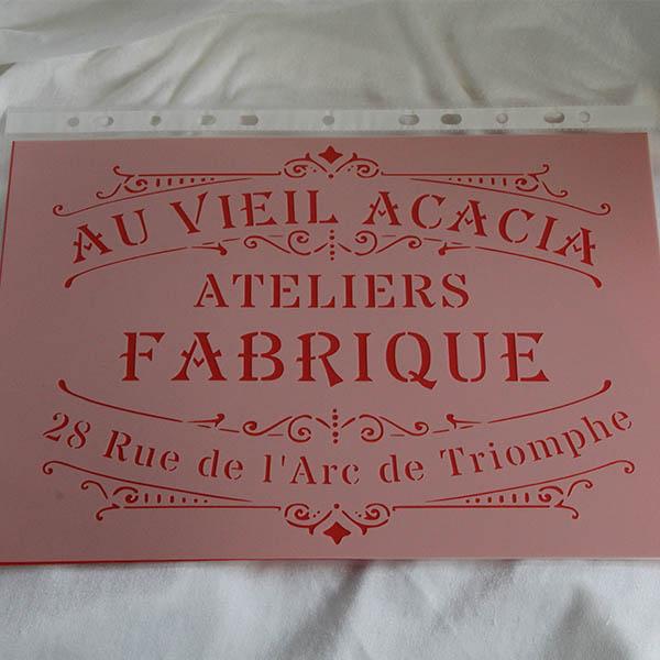 Stencil Au Vieil Acacia
