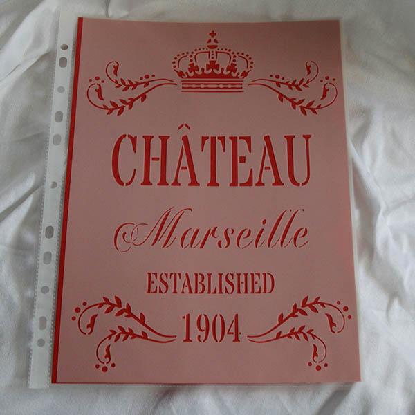 Stencil Chateau Marseilles