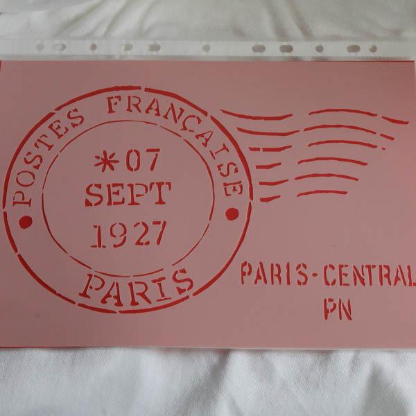 Stencil Postes Francaise