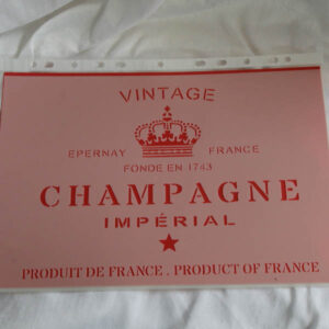 Stencil Vintage Champagne