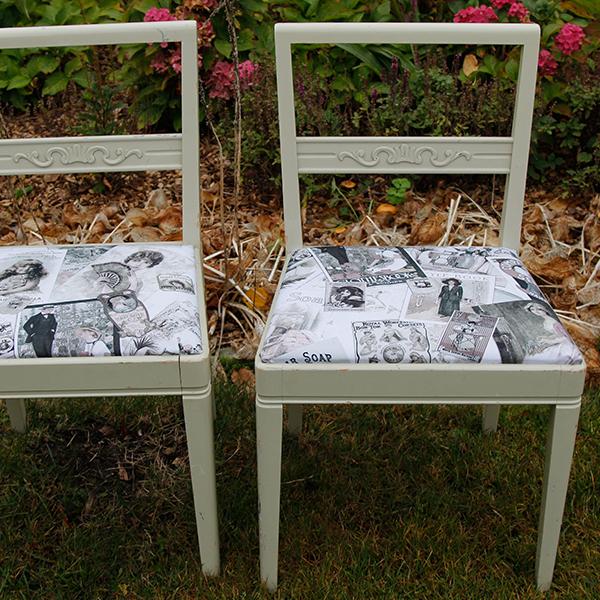 Romantiske køkkenstole fra 1960´erne