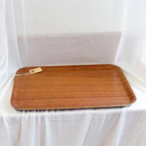 04 Teak serveringsbakke NN 42,5x32,5 cm