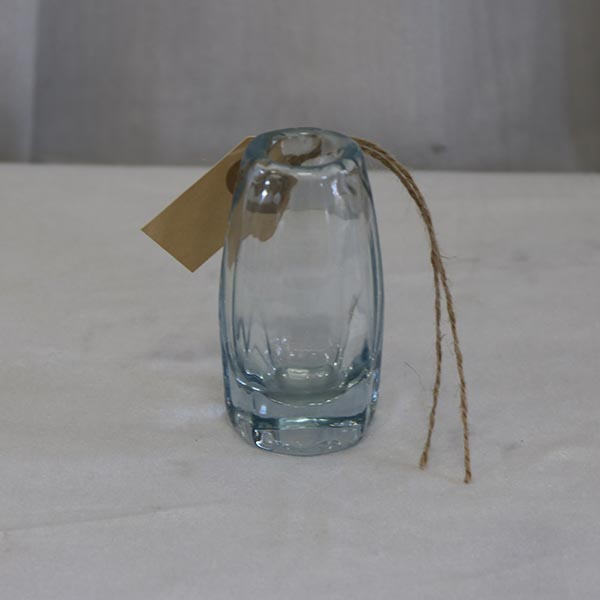 Aqua farvet buttet miniput vase