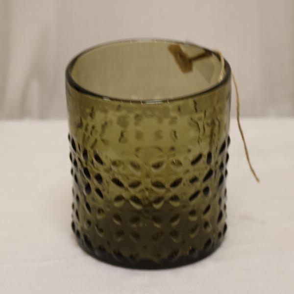 Hellstrand olivenfarvet glasvase