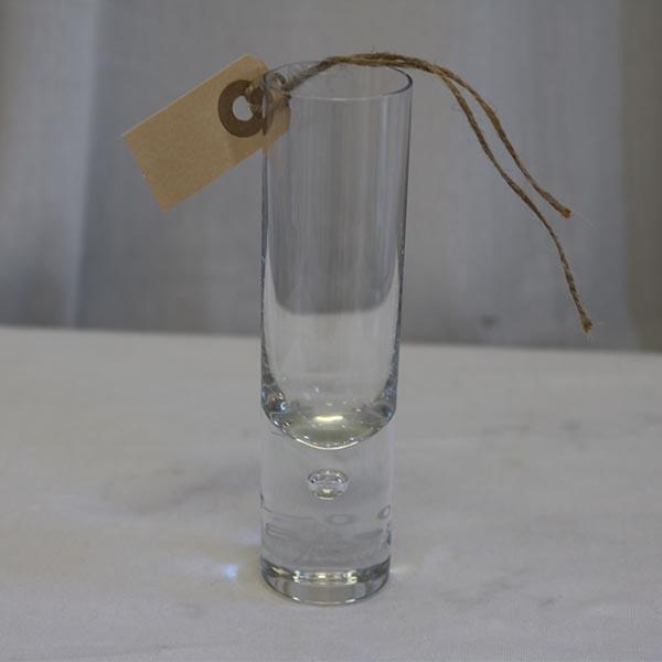 Klar vase med dråbe - miniput
