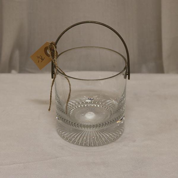 Glas isspand med metalhank