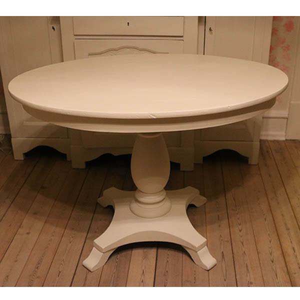 Ovalt hvidt bord