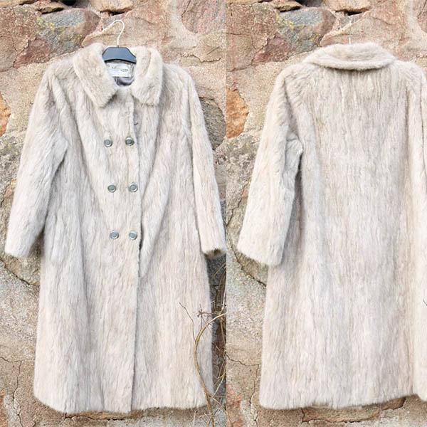 Vintage grå mink pels i fin stand