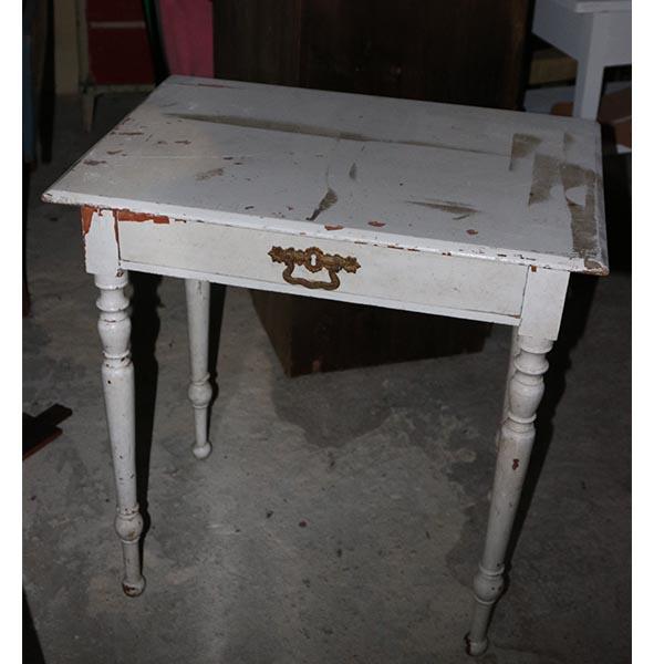 antik bord Hvidt bord med skuffe   Pipi Antik antik bord