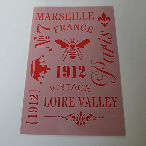 Franske A4 stencils