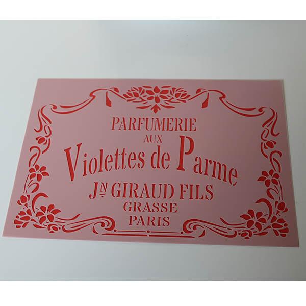 Stencil Violettes de Parrme A4