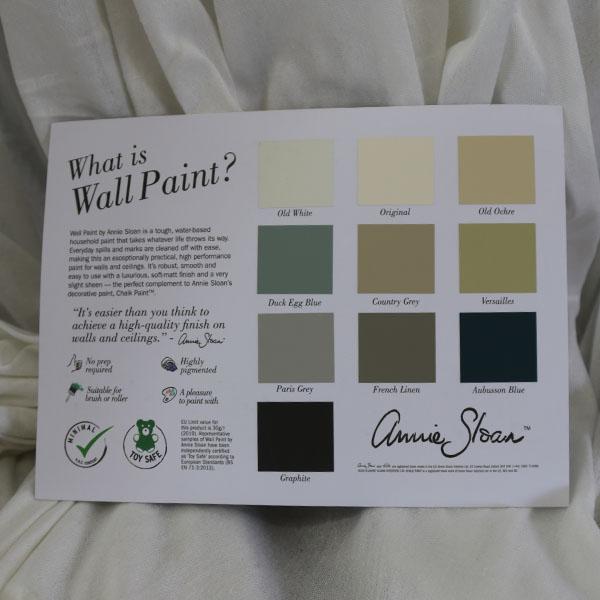 Farvekort vægmaling Annie Sloan