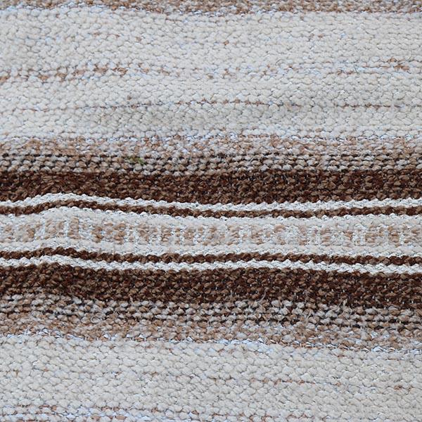 03 Beige brunlig kludetæppe 127x182 cm
