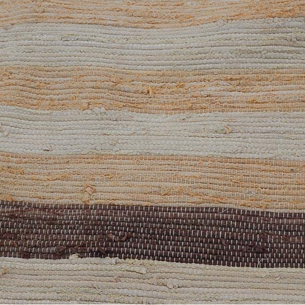 04 Beige brunlig kludetæppe 120x195 cm