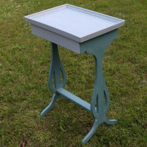 Aubusson sybord med Duck Egg Blue bordplade - krakkeleret -47x31,5x67 cm