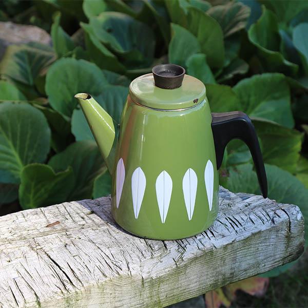 Cathrineholm Lotus kaffekande grøn hvid