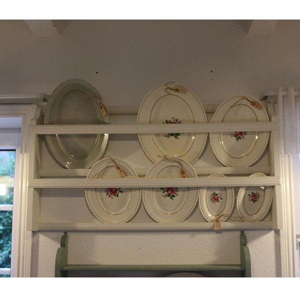 Hvid tallerkenrække Medium