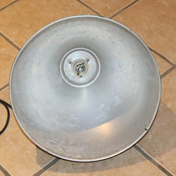 Inudstrilampe irgraønt - alu inside