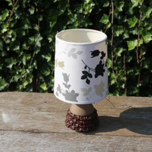 Brun natur keramiklampe Selsbo 27 cm