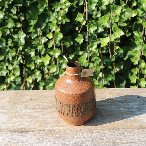Orange-buttet-keramikvase-nn-3047-19-cm
