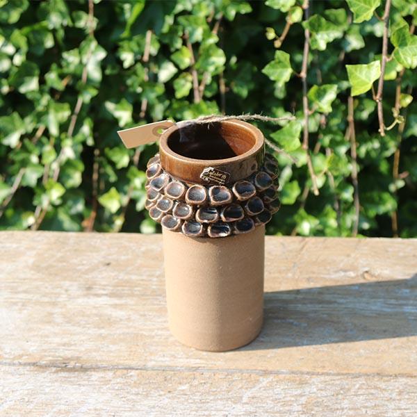 keramikvase-SELSBO i-brun-natur-selsbo-20-cm