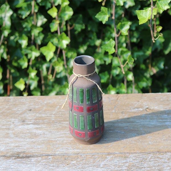 groen-roed-keramikvase-retro-nn-895-17-cm
