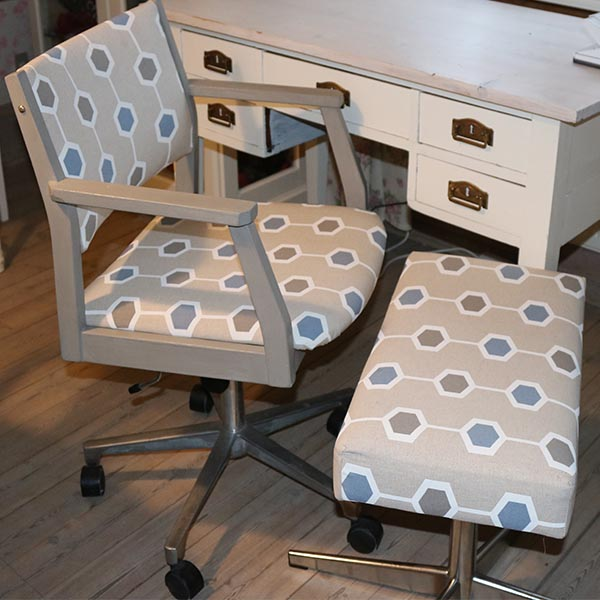 Retro kontorstol med vippebar ryglæn