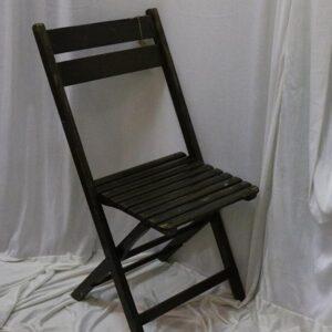 Foldbare cafeborde stole - antikke - i sort med patina