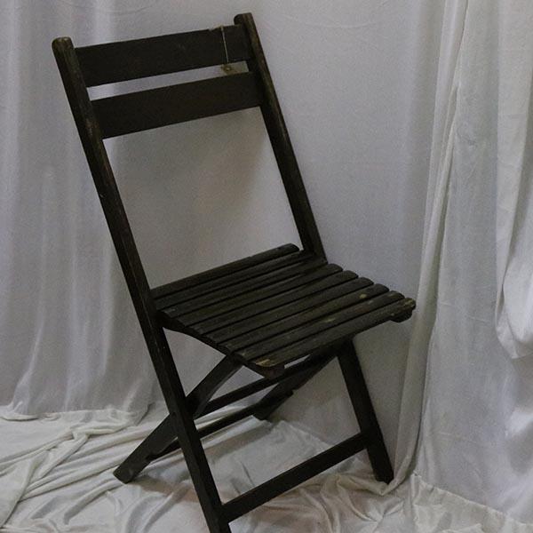 Foldbare cafeborde - antikke - i sort med patina
