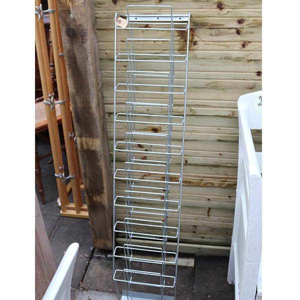 Brochureholder i metal rack
