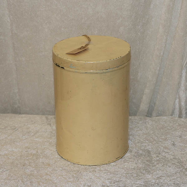 Cremefarvet kagedåse Ø 16 cm x 23 cm høj