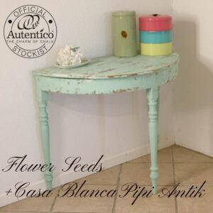 Halvbord i Mintgrøn Flower Seeds og Casa Blanca 94x48x73