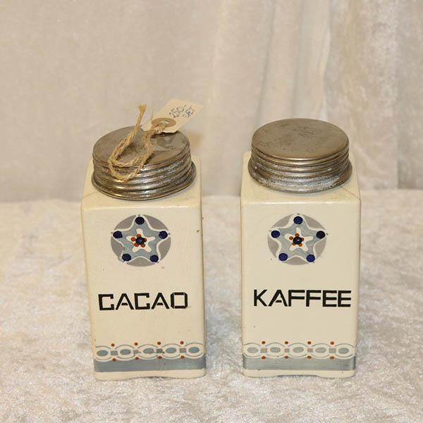 Kaffe og Cacao beholdere