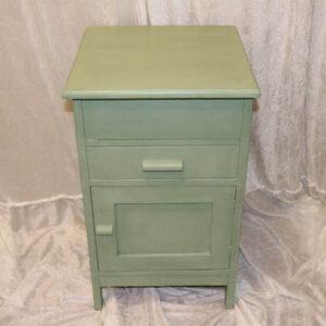 Sart grøn vaskeskab med zinkbalje