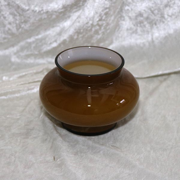 Retro buttet glasvase -brunlig