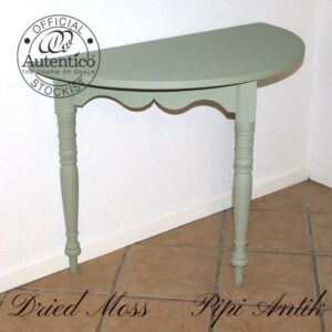 Halvtbord i Dried Moss Autentico kalkmaling L98xD50x74 cm H