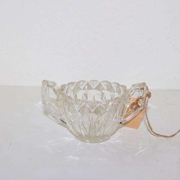 06 Sukkerskål presset glas 9 x 7 cm