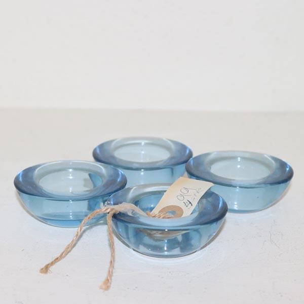 06 Holmegaard lysholdere i aquafarve