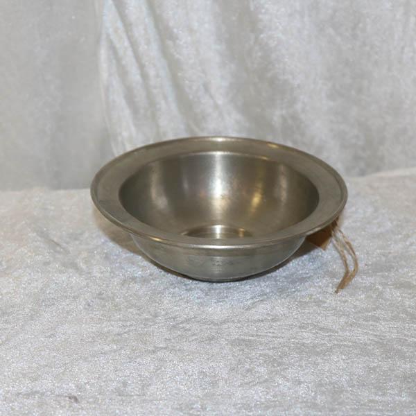 11 Tin skål - lille - Ø 15 x 5 cm i højde