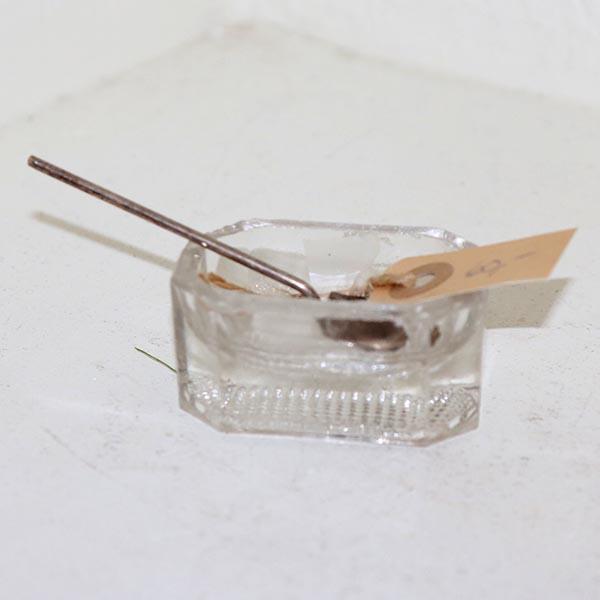 12 Fingersaltkar med ske 7 cm i L