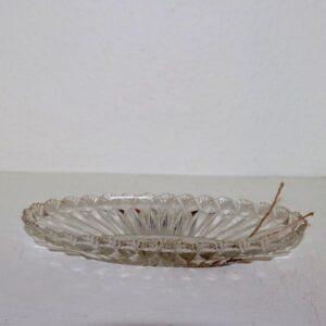 13 Glasfad - presset glas - 24 x 12 cm