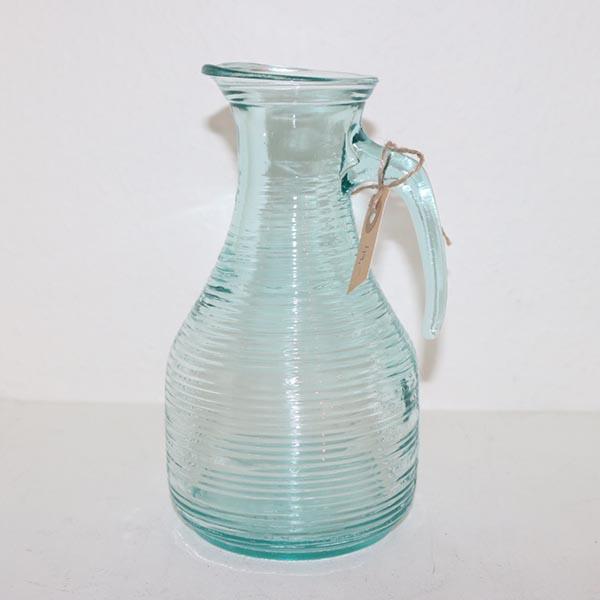 15 Retro tyrkis glaskande Ø 12 x 23 cm